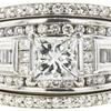 0.95 ct. Princess Cut Bridal Set Ring, H-I, I1 #1