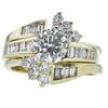 1.00 ct. Round Cut Bridal Set Ring, M-Z, SI2 #3
