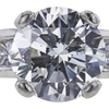 2.16 ct. Round Cut Bridal Set Ring, G, SI2 #4