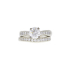 1.38 ct. Round Cut Bridal Set Ring, H, I1 #3