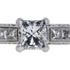 0.69 ct. Princess Cut Bridal Set Ring, D, VS2 #4