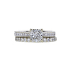 0.90 ct. Radiant Cut Bridal Set Ring, E, VVS2 #3