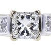 1.09 ct. Princess Cut Bridal Set Ring, H, SI1 #3