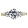 1.01 ct. Round Cut 3 Stone Ring, J, SI1 #3