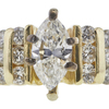 0.86 ct. Marquise Cut Ring, F, SI2 #4