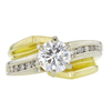 1.07 ct. Round Cut Bridal Set Ring, H, SI1 #3