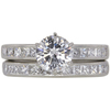 1.04 ct. Round Cut Bridal Set Ring, G, VS2 #3