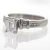 1.0 ct. Emerald Cut Bridal Set Ring #2