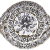 1.0 ct. Round Modified Brilliant Cut Bridal Set Ring, F, I1 #4