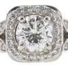0.95 ct. Round Cut Bridal Set Ring, I, VS2 #4