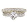 0.85 ct. Circular Brilliant Cut Bridal Set Ring, L, VS2 #3