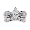 1.0 ct. Marquise Cut Bridal Set Ring, H, SI2 #3