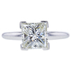 2.15 ct. Princess Cut Solitaire Ring, K, VS1 #3