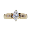 0.80 ct. Marquise Cut Solitaire Ring, D, VS2 #3