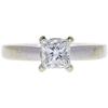 0.95 ct. Princess Cut Solitaire Ring, F-G, VS2 #1