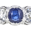 1.58 ct. Round Cut 3 Stone Ring, Blue, SI1-SI2 #1