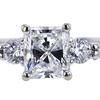 Art Deco GIA 1.01 ct. Radiant Cut Bridal Set Ring, F, VS1 #4