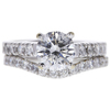 1.25 ct. Round Cut Bridal Set Ring, F, I2 #3
