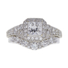 0.72 ct. Princess Cut Bridal Set Ring, E-F, SI1-SI2 #1