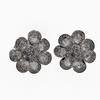 Round Cut Blossom Cluster Earrings #1