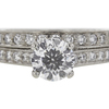 1.01 ct. Round Cut Bridal Set Ring, F, I1 #4