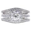 1.2 ct. Round Cut Bridal Set Ring, G-H, I1 #1
