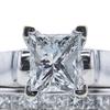 1.01 ct. Princess Cut Bridal Set Ring, F, SI1 #4