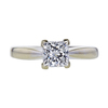 1.02 ct. Princess Cut Solitaire Ring, F, SI2 #2