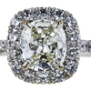 1.50 ct. Cushion Cut Halo Ring, J-K, VS1-VS2 #2