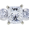 1.02 ct. Radiant Modified Cut 3 Stone Ring, F, SI2 #1