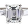 2.39 ct. Emerald Cut 3 Stone Ring, H, VVS2 #4
