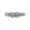 0.71 ct. Princess Cut Solitaire Ring, E, VS1 #3