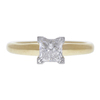 0.9 ct. Princess Cut Solitaire Ring, G, I1 #3