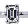1.00 ct. Emerald Cut Solitaire Ring, E, VS2 #4