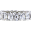 Emerald Cut Eternity Band Ring #1