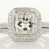 2.02 ct. Princess Cut Bridal Set Ring #1