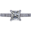 0.92 ct. Princess Cut Solitaire Ring, I, SI1 #3