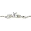 1.02 ct. Emerald Cut Bridal Set Ring, H, VVS1 #4