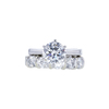 1.80 ct. Round Cut Bridal Set Ring, G, SI1 #3
