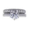 1.14 ct. Round Cut Bridal Set Ring, G, VS2 #3
