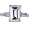 1.78 ct. Emerald Cut 3 Stone Ring #1
