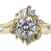 0.91 ct. Round Cut Bridal Set Ring #4