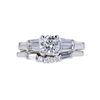 0.71 ct. Round Cut Bridal Set Ring, I, SI1 #3