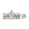 1.52 ct. Princess Cut Bridal Set Ring, H, I1 #3