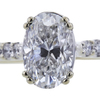 1.00 ct. Oval Cut Solitaire Ring, E, SI1 #4