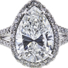 5.03 ct. Pear Cut Halo Ring, G, SI2 #4