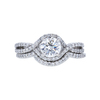 0.84 ct. Round Cut Bridal Set Ring, E, VS1 #3