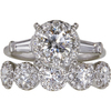0.72 ct. Round Cut Bridal Set Ring, I-J, VS1 #1