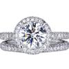 1.28 ct. Round Cut Bridal Set Ring, G, VS2 #3