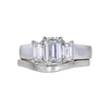 1.03 ct. Emerald Cut Bridal Set Ring, H, SI1 #3